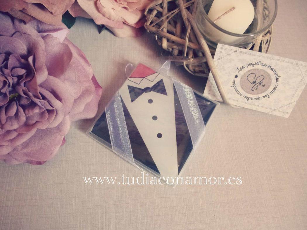 Detalle de boda bonito y original