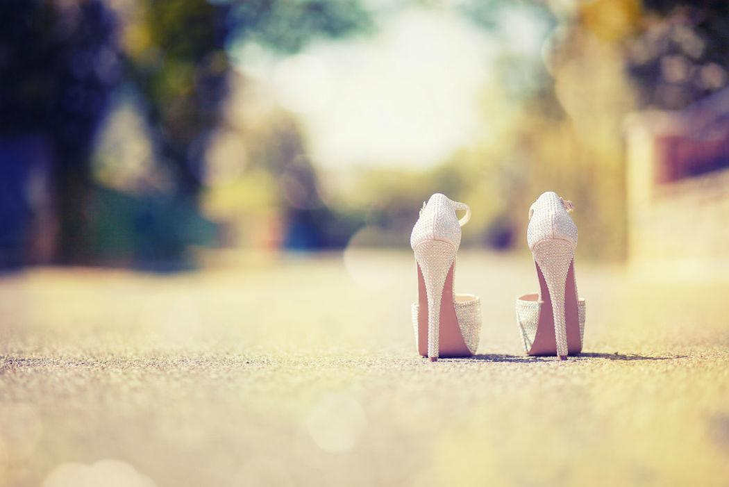 Beispiel: Brautschuhe, Foto: Romina Certa Weddings & Events.