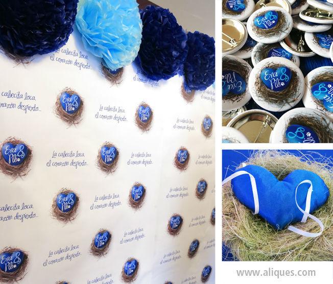 Invitación azul