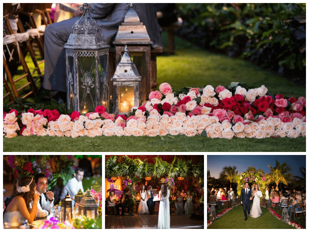 Fairytale Wedding at The Gorgeous Riviera Maya!!!! Who say that roses aren't beautiful???...look this ombre design for the Ceremony aisle: simplicity & elegance in the intimacy of the Jungle!