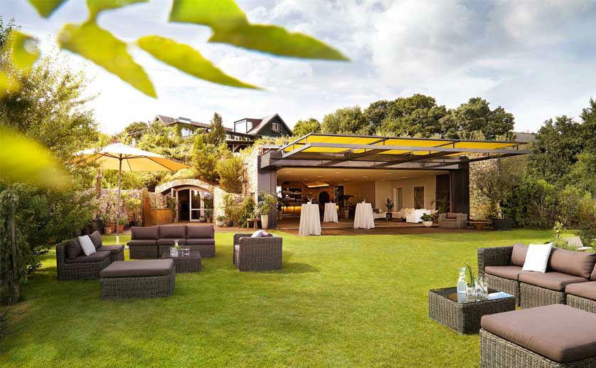 Beispiel: Garten und Terrasse, Foto: Weingut am Reisenberg.