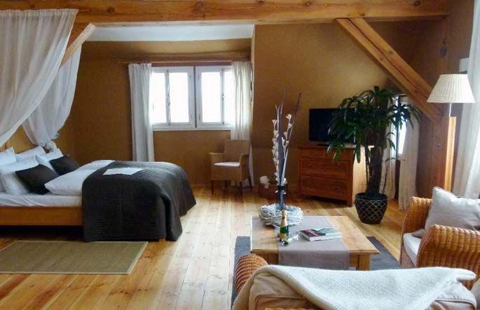 Beispiel: Hotelzimmer, Foto: Gutshof Woldzegarten.