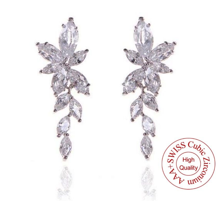 boucles d'oreilles mariage joaillerie luxe Marquise