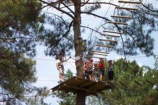 Parcours dans les arbres, de 3 à 99 ans.