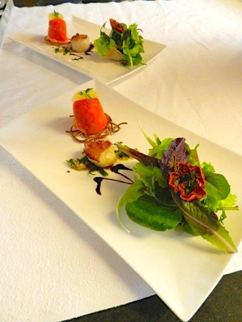 Beispiel: Menü, Foto: Belvédère Strandhotel & Restaurant.