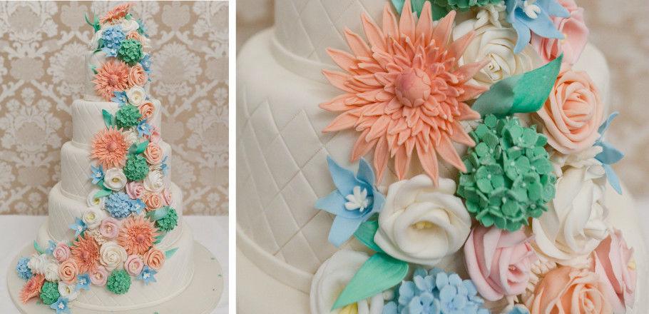 Beispiel: Hochzeitstorte, Foto: Avorio Hochzeitsorganisation.