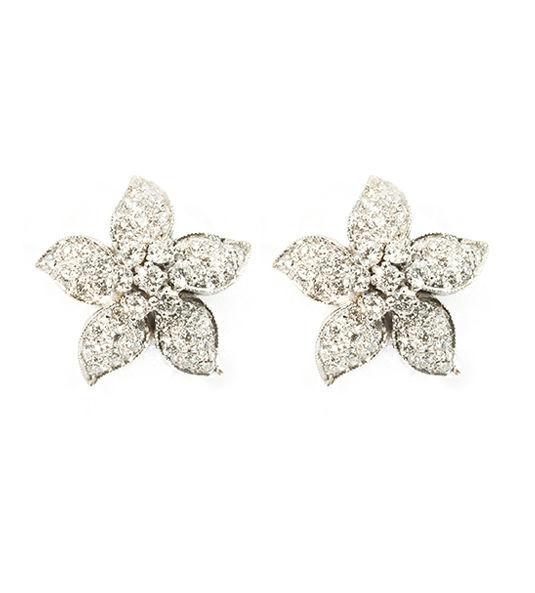 Pendientes con diamantes románticos Navas Joyeros