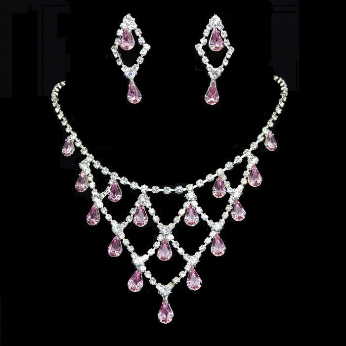 Parure de bijoux Chute de Cristal - Bijoux de Mariage