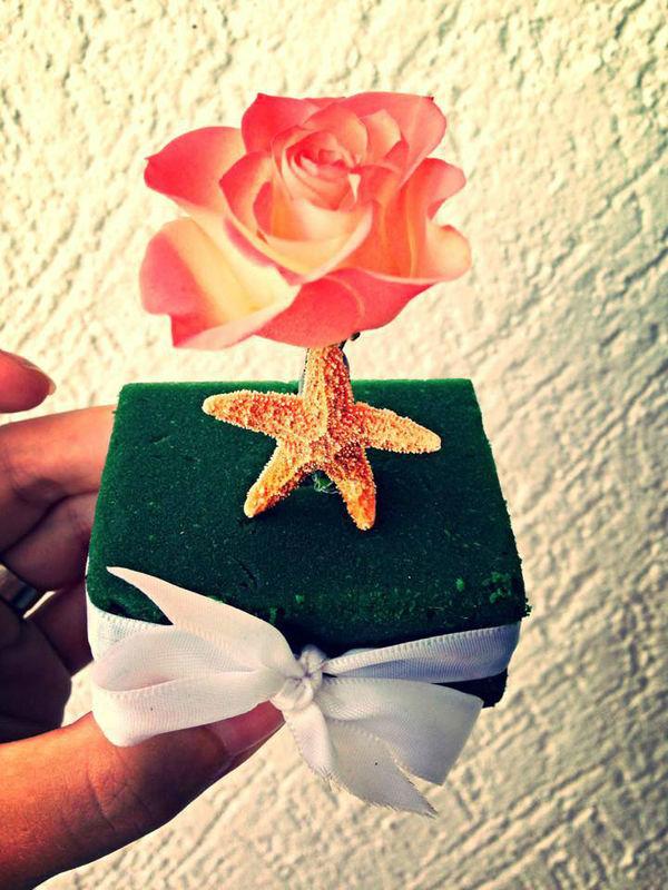mini rosa con estrella