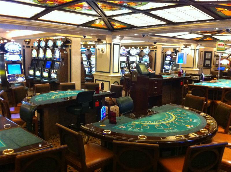 Beispiel: Casino, Foto: Cunard Line.
