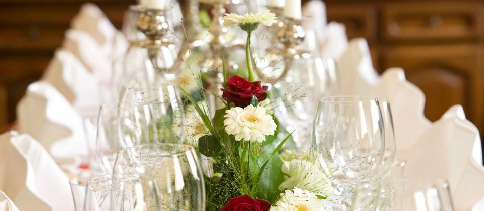 Beispiel: Bankett für die Hochzeit, Foto: Berghotel Tulbingerkogel.