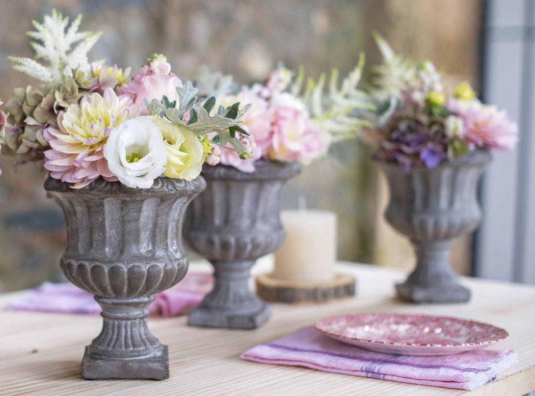 Centros de mesa románticos Flowercap
