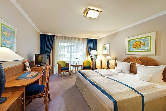 Beispiel: Doppelzimmer, Foto: Travel Charme Strandhotel Bansin.