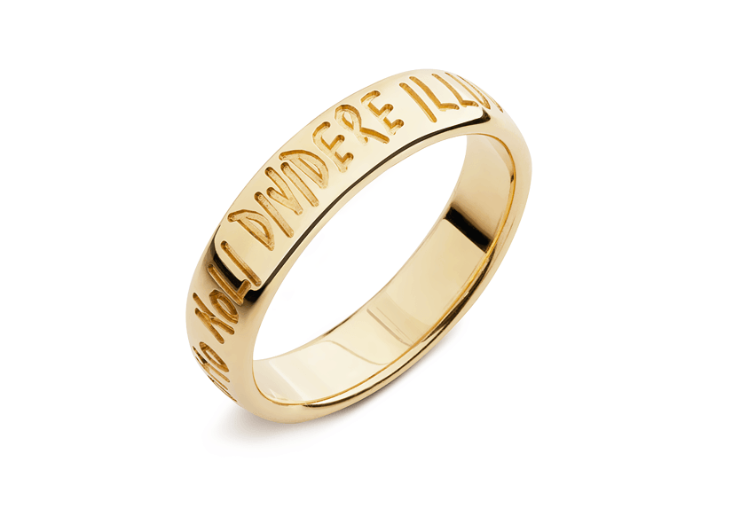 Lanfossi Gioielli - Fede Eternity in oro giallo 18 k altezza 5 mm