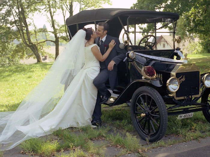 Beispiel: Ihr Hochzeitsauto, Foto: Trau Atelier.