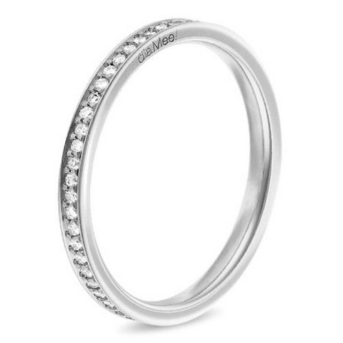Alliance femme 4 grains diamant Diamee