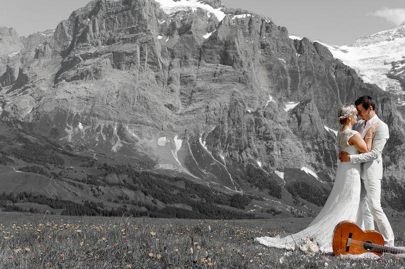 Beispiel: Fotokunst, Foto: Switzerland Wedding Company.