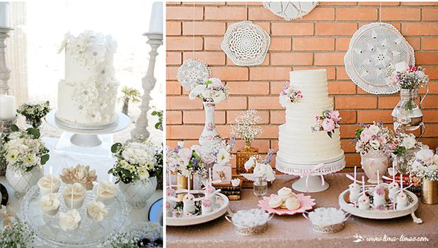 Encantamento e diferença na mesa do bolo/doces.