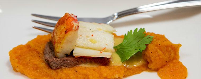 Beispiel: Fischgericht, Foto: Kuffler Catering.