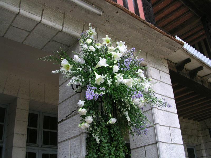 Manoir du Val Denis - Un fleuriste de Pacy-sur-Eure a réalisé cette décoration