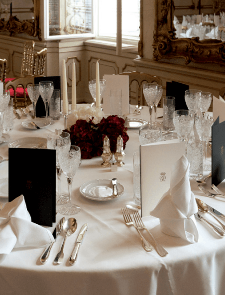 Beispiel: Hochzeitsbankett, Foto: Palais Pallavicini.