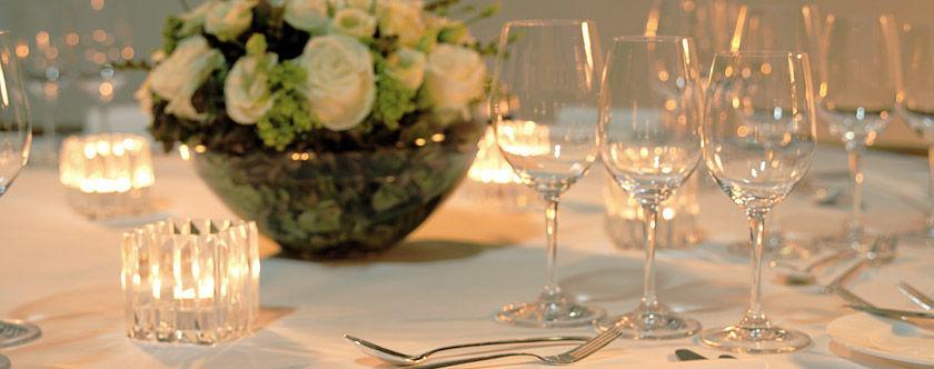 Beispiel: Tischdekoration, Foto: The Dolder Grand.
