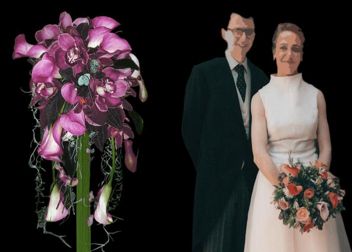 Originales y coloridos ramos de novia