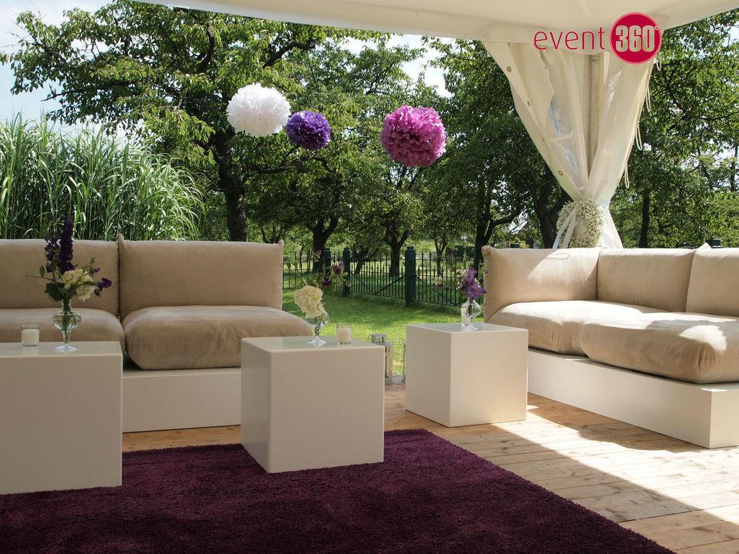 Beispiel: Lounge-Bereich, Foto: Event 360°