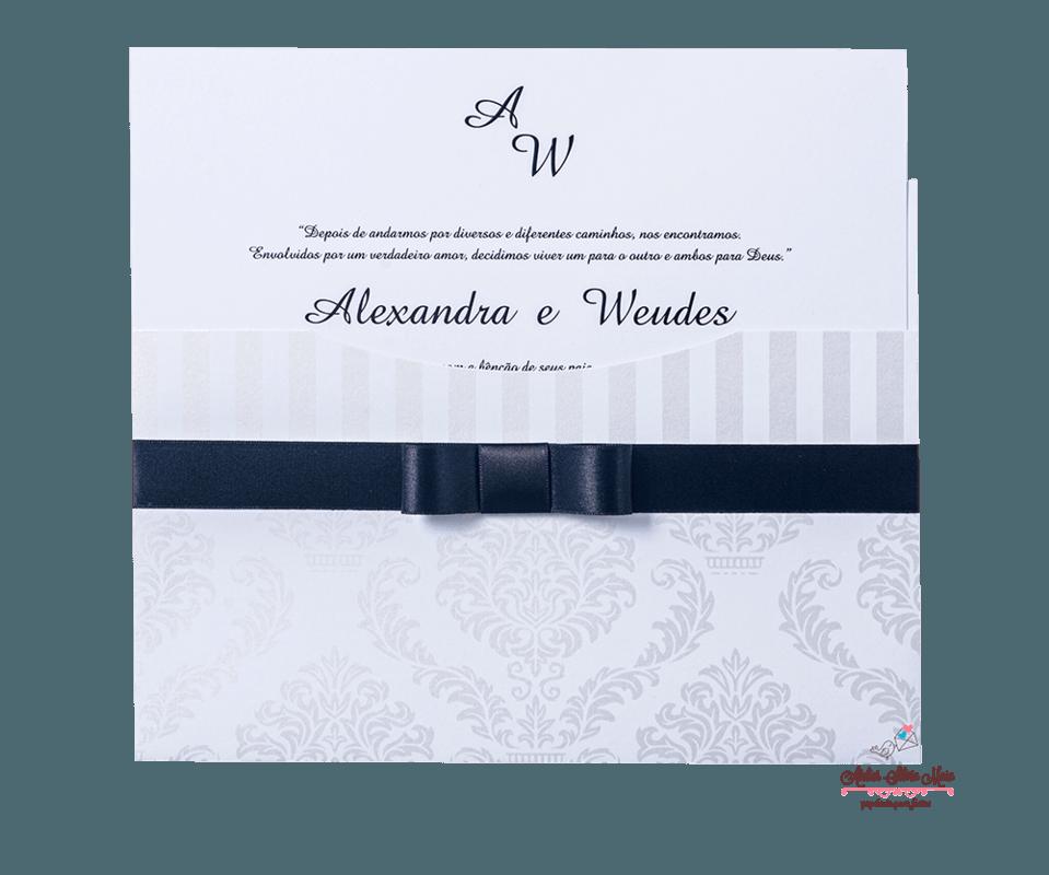Convite com Impressão Perolizada - Ref. CS.0183