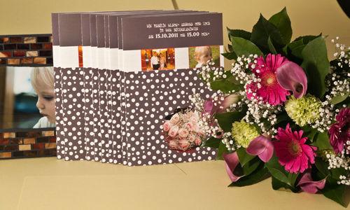 Beispiel: Eigene Hochzeitszeitung ganz einfach gestalten, Foto: Schobuk.