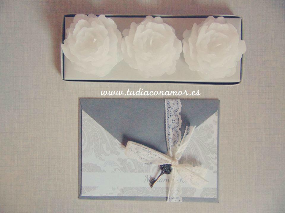 Tu Día con Amor Invitaciones de boda clásicas