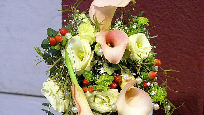 Beispiel: Hochzeitsfloristik, Foto: Blumenhaus Mäglin.