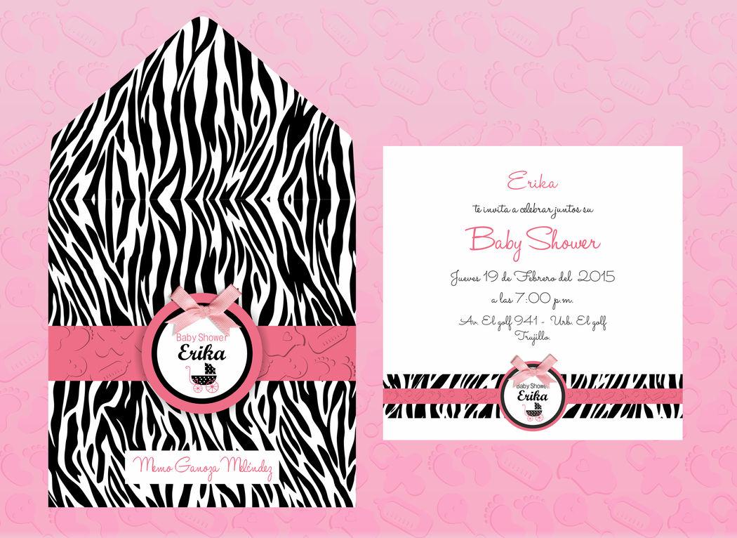 Invitacion Baby Shower Animal Print