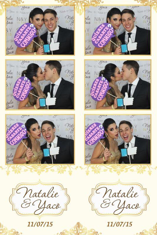 Tiras de 3 fotos con diseño personalizado para boda, una muestra de los recuerdos que te damos.