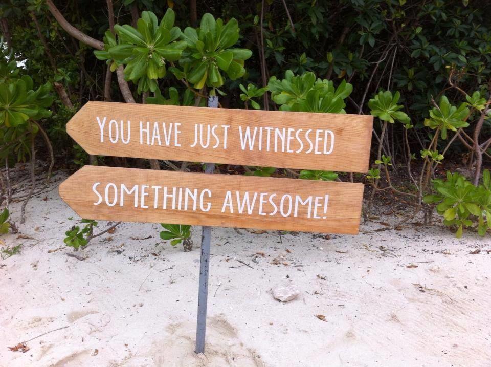Nuestros letreros siempre listos para señalar el camino a los invitados o para compartir pensamientos.