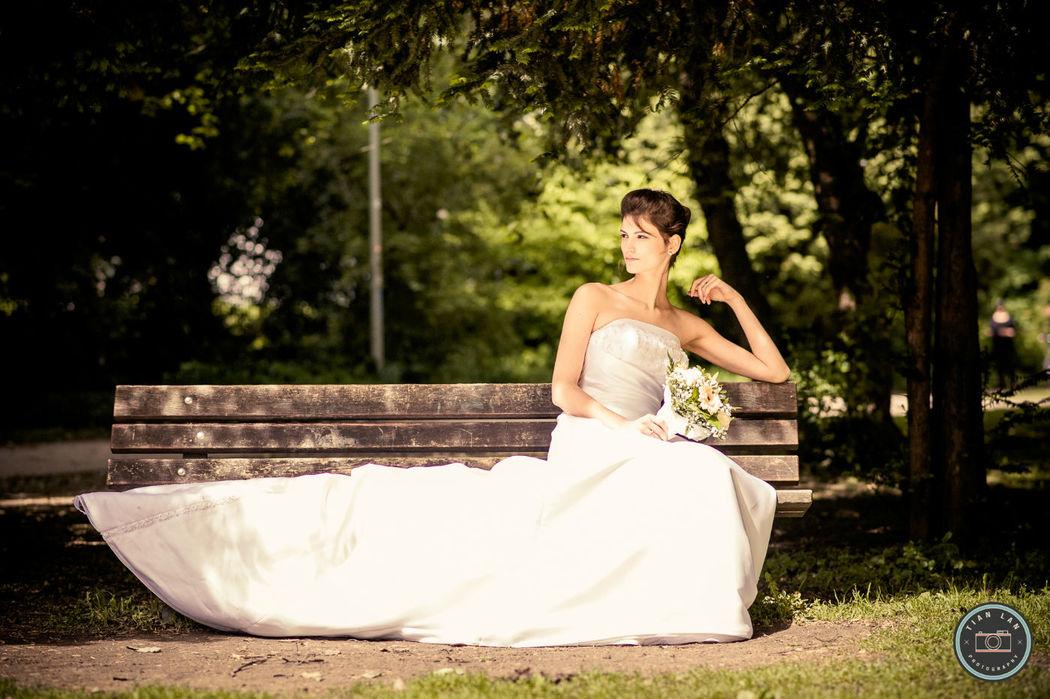 Beispiel: Portrait der Braut, Foto: Tian Lan Photography.