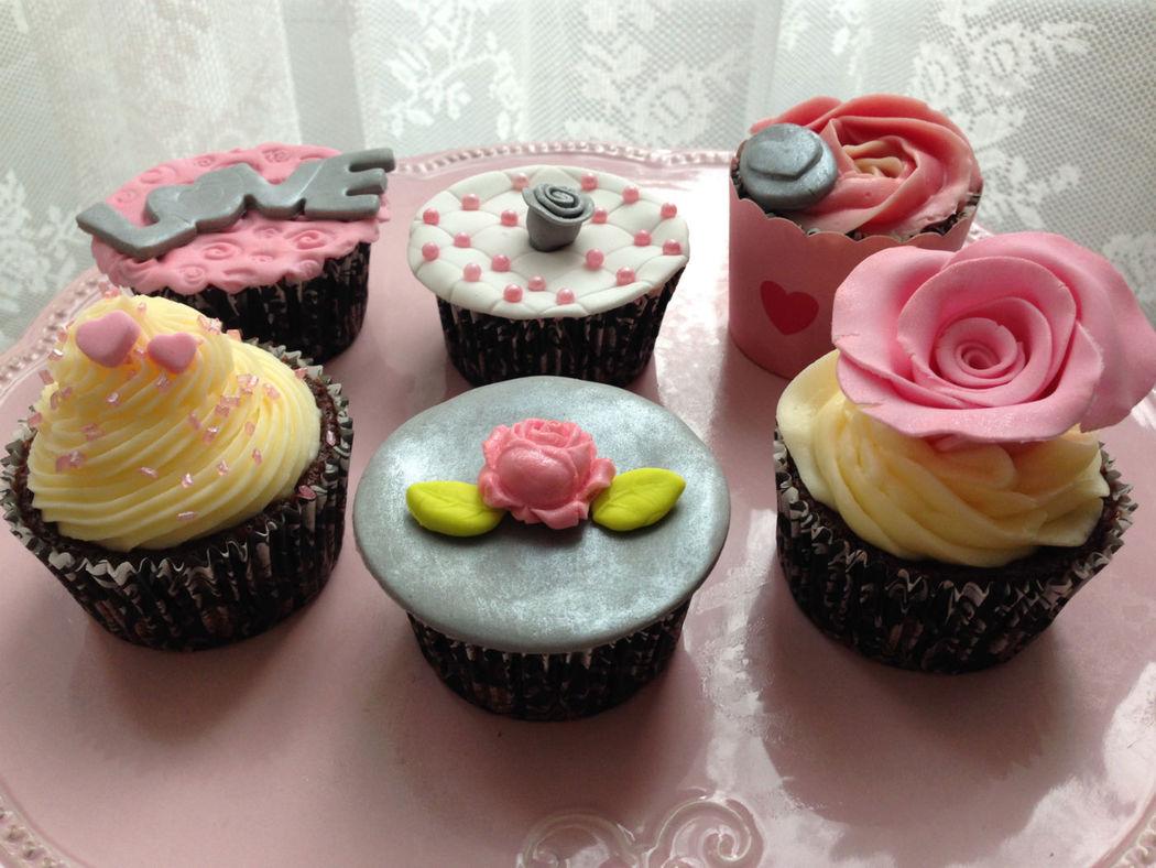 Cupcakes románticos