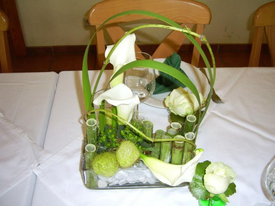 Beispiel: Hochzeitsgesteck, Foto: Gartencenter Burgenland.