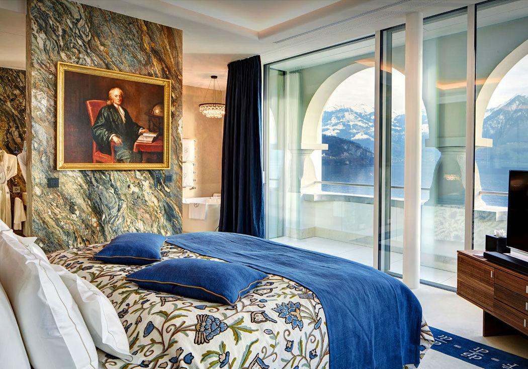 Beispiel: Zimmer, Foto: Park Hotel Vitznau.