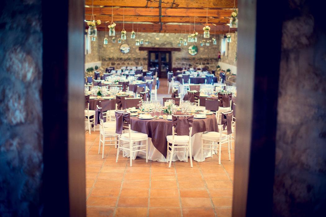 El salón para el banquete