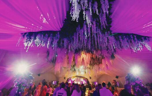 Декор потолка в шатре