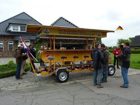 Beispiel: Tour mit dem BierBike, Foto: BierBike Niederrhein.