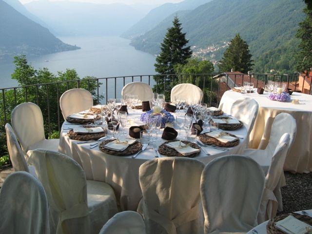 Allestimento tavoli - Villa Nessi
