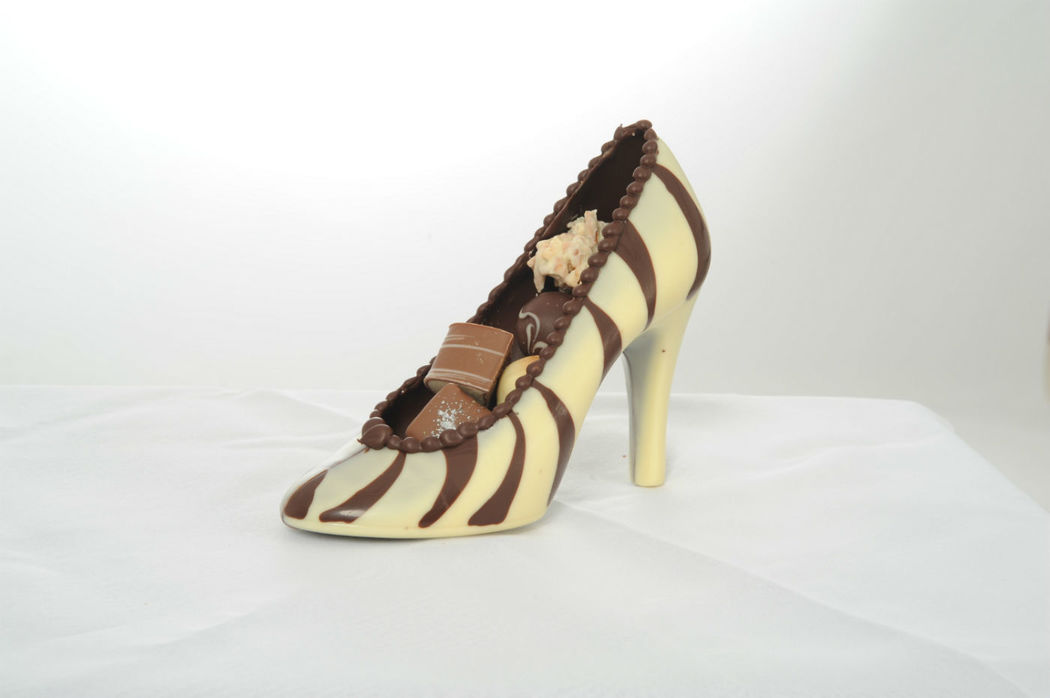 Beispiel Schokoladenkurse Schuh aus Schokolade, Foto: Isler Konditorei.