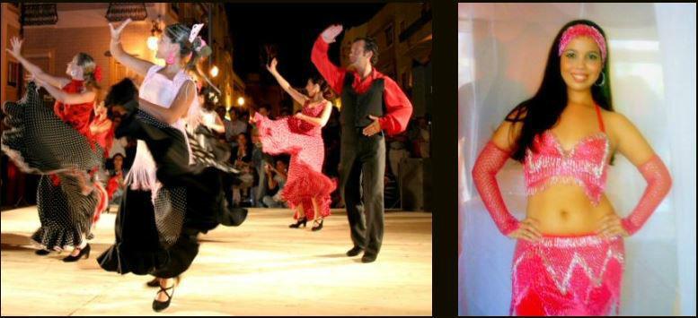 Danças  Latinas,sevilhanas, dança do ventre, africanas,brasileiras, outras...