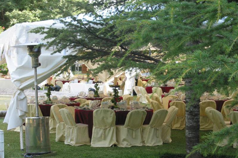 Almuerzo jardines del Recreo de las Cadenas