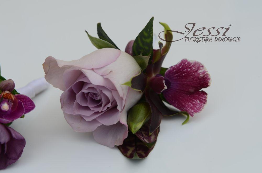 kwiatki do butonierki    #fiolety