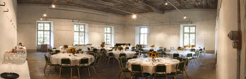 Der Kornboden im Schloss Holligen, Lokal von Gourmetbox Bern.