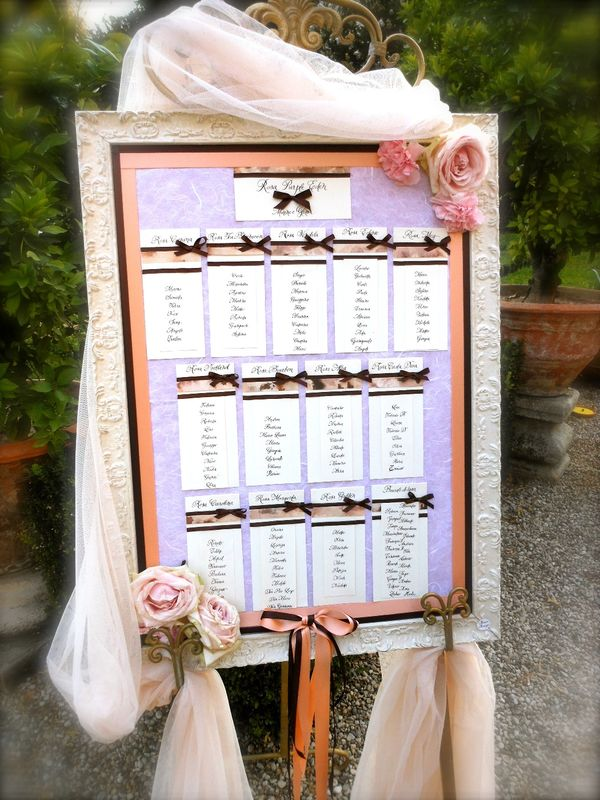 Maison Mariage Party & Wedding Planner: tableau mariage personalizzato