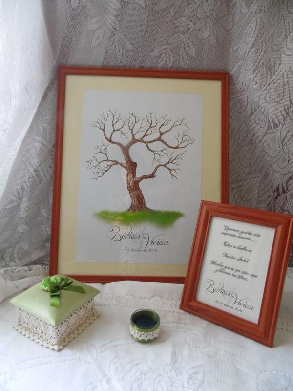 árbol de huellas para matrimonio